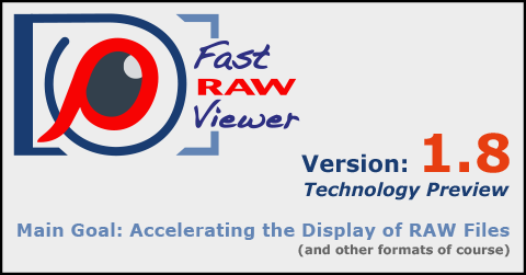 FastRawViewer 1.8. Technology Preview