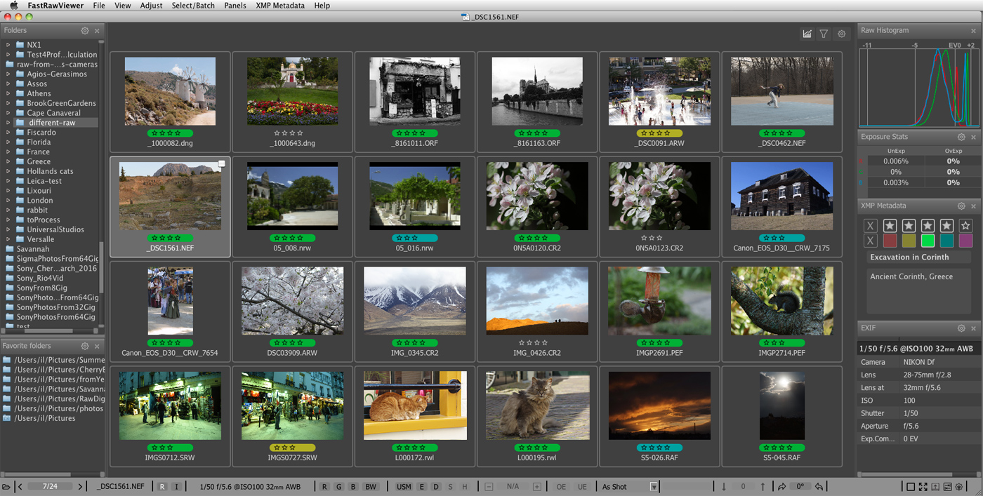Supported Cameras and RAW Formats | FastRawViewer