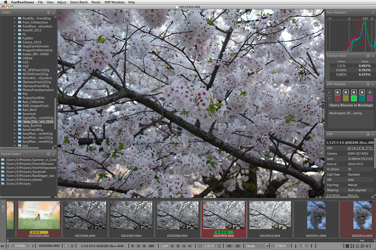 Raw Viewer for Sony for Mac OS X and Windows   FastRawViewer
