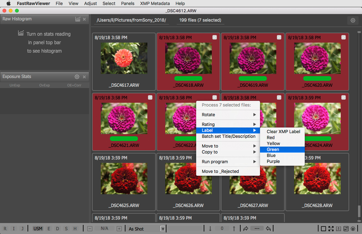 Sorting Photos with FastRawViewer | FastRawViewer