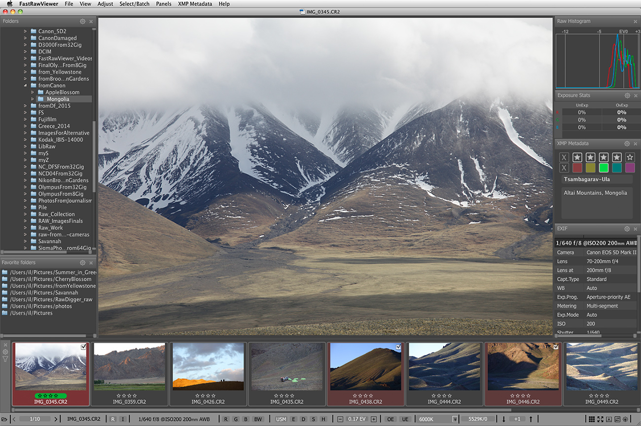 CR2 Viewer for for Mac OS X and Windows | FastRawViewer