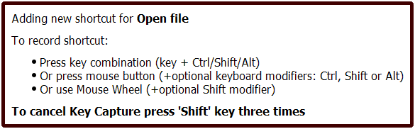 Setting the Keyboard Shortcuts | FastRawViewer