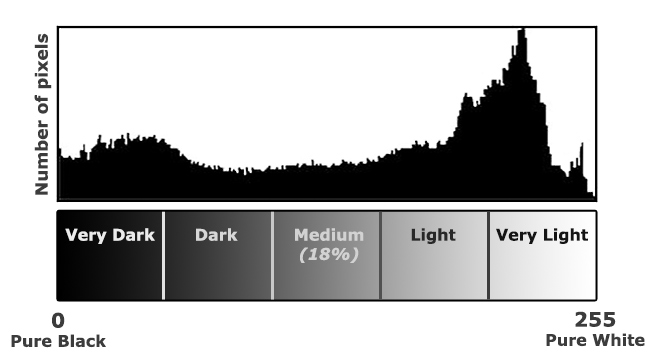 Typical Histogram legend