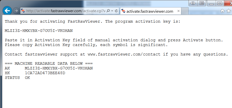 First Launch and Program Activation | FastRawViewer