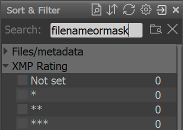Sorting and filtering files in a folder | FastRawViewer