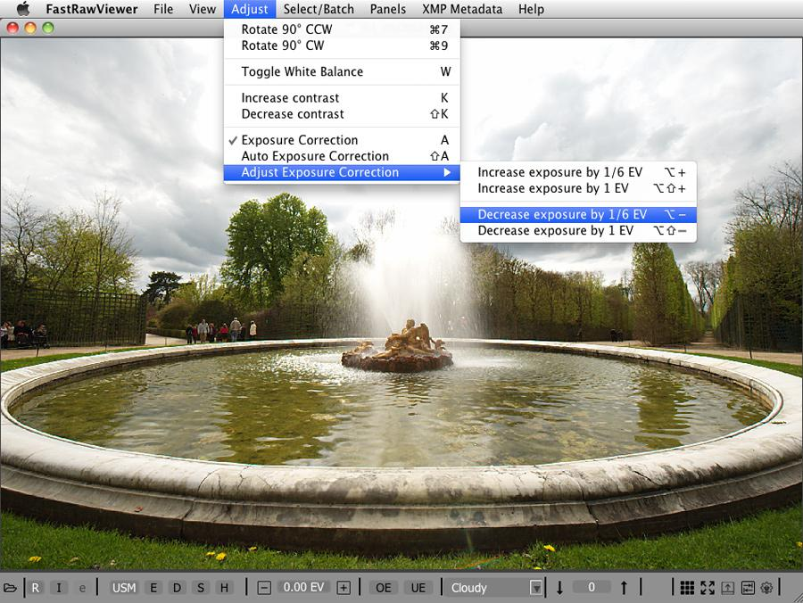 FastRawViewer 1.3.3 Adjust Exposure Correction