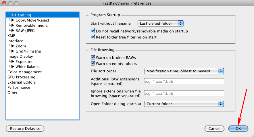 FastRawViewer 1.3.8. Accept ShiftClock Hidden Settings
