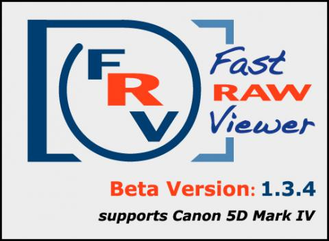 FastRawviewer 1.3.4 Beta. Support for Canon 5D Mark IV