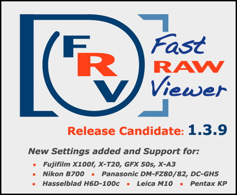 FastRawViewer 1.3. 9 release candidate