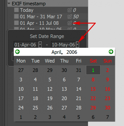 FastRawViewer 1.4. Date Setting