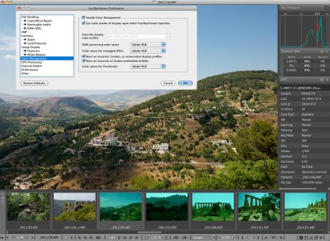 FastRawViewer Color Management System