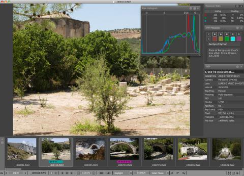FastRawViewer Real RAW Histogram